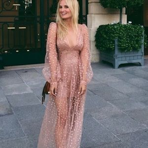 NWT For Love and Lemons All That Glitters Maxi